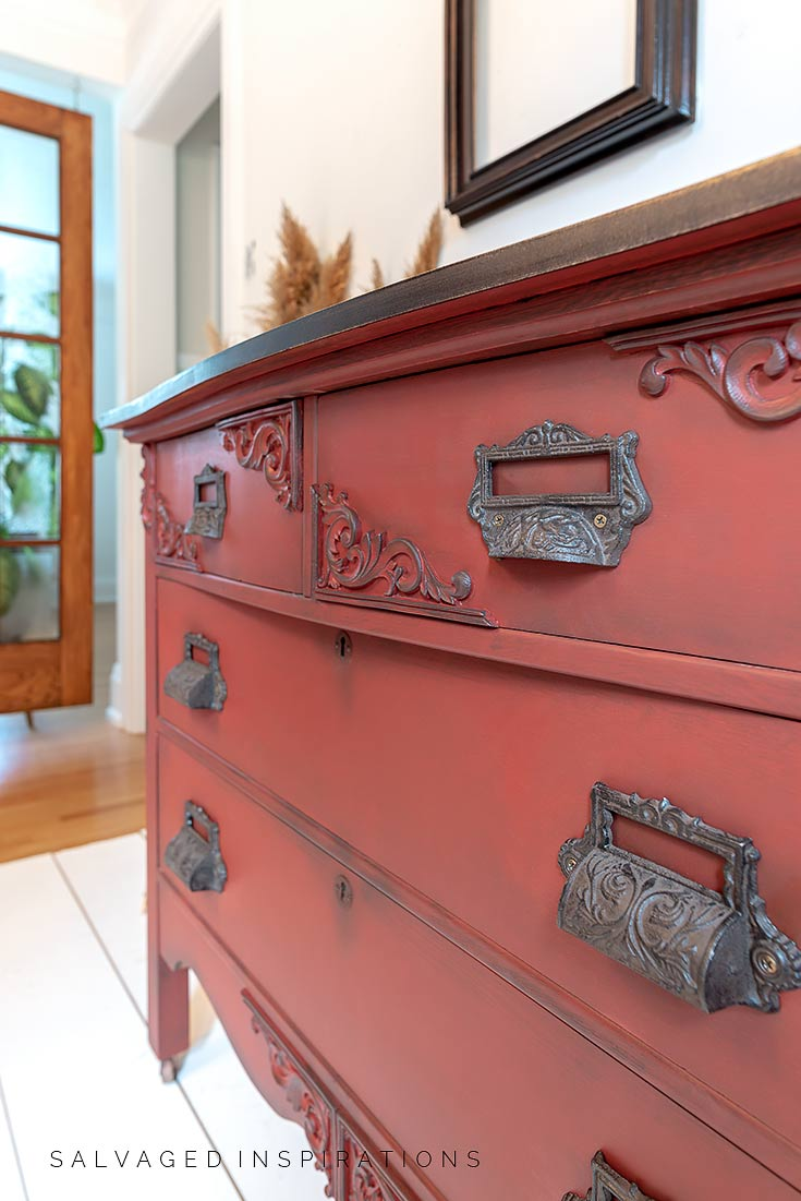 Perfectly Painted Underlip of Dresser Top