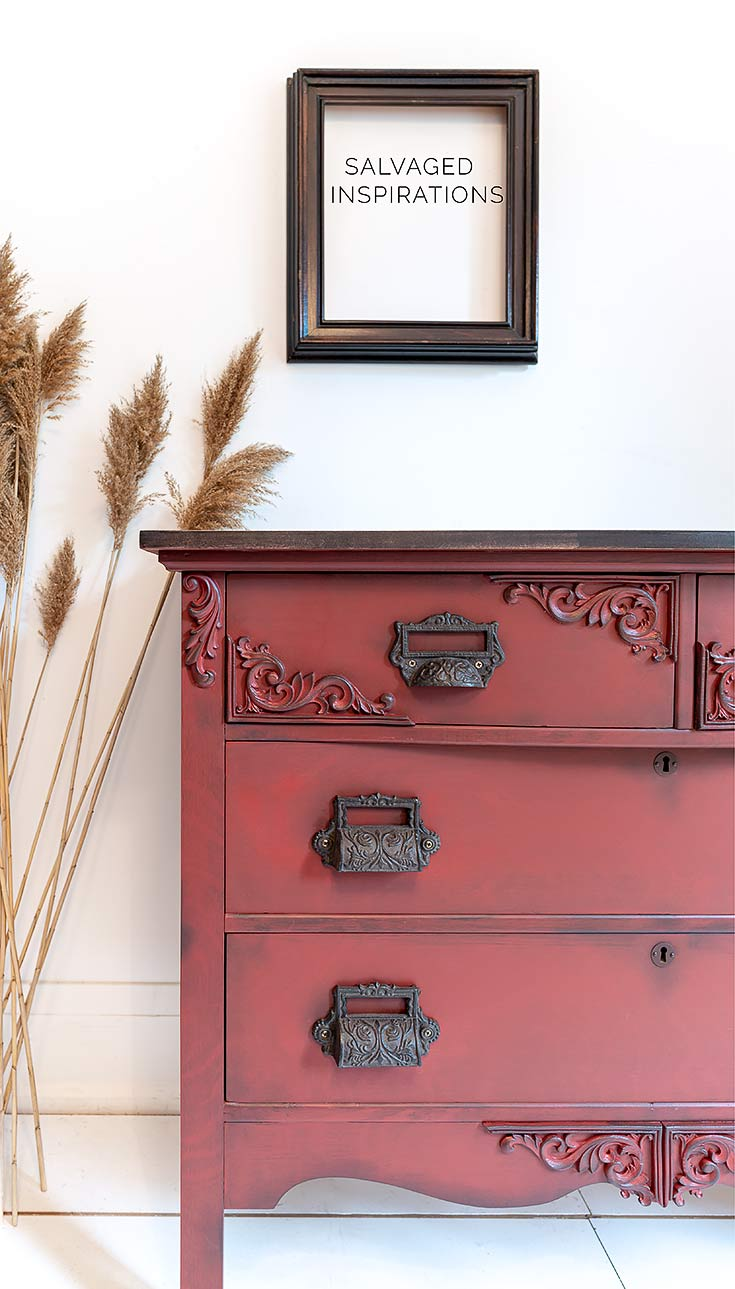 Tiger Stripe Rustic Red Dresser