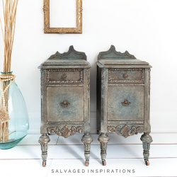 Antiqued Glaze on Nightstands before and after IG