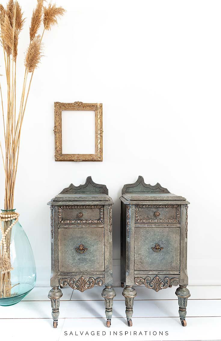 Antiqued Glaze on Nightstands