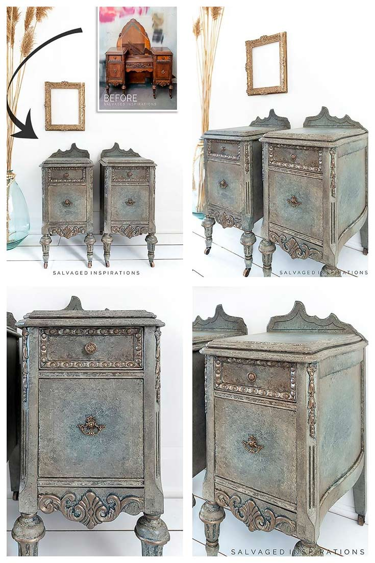 Antiquing With Glaze - Nightstand Makeover