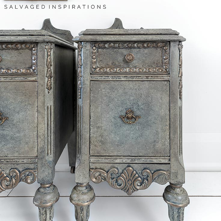 Close Up of Antique Glazed Nightstand IG
