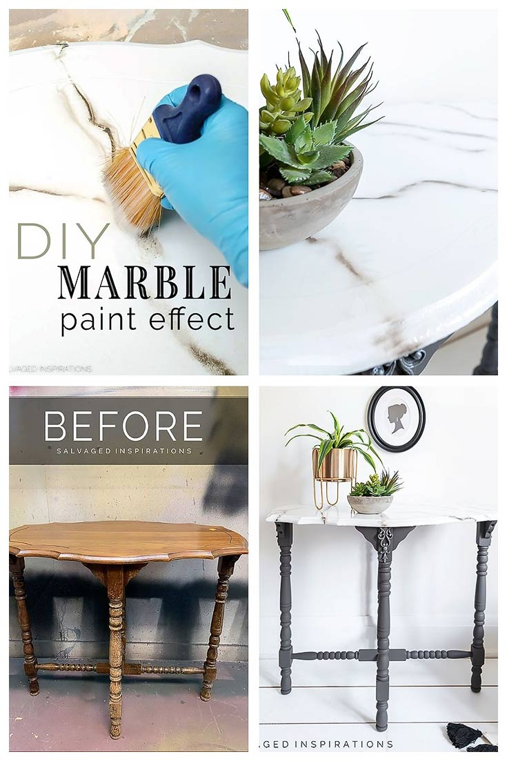 DIY Faux Marble Before And After