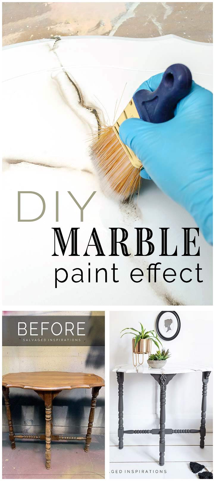 DIY Marble Paint Effects Tutorial siblog