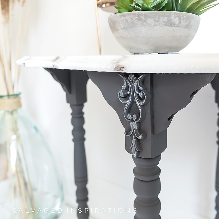 DIY Painted Marble Table Top