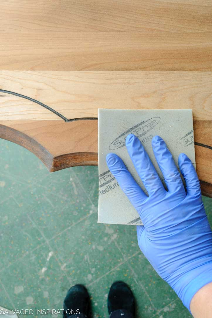 Sanding Entryway Table