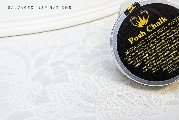 Posh Chalk Metallic Textured Paste on Jewel Box