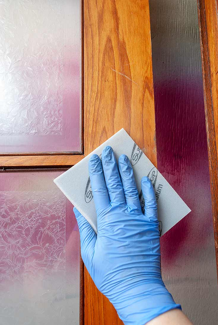 Scuff Sanding Existing Finish For Gel Stain