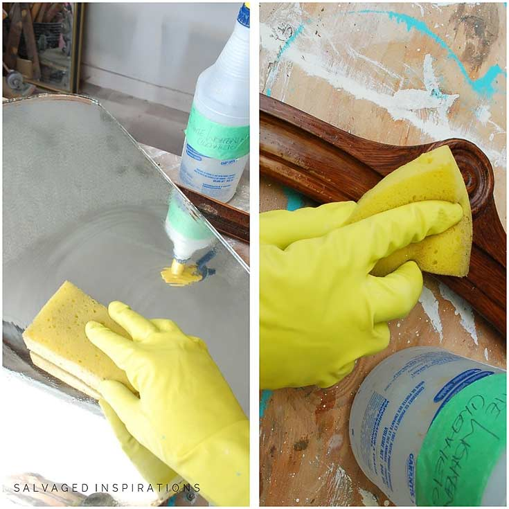 Cleaning Mirror w White Lightening