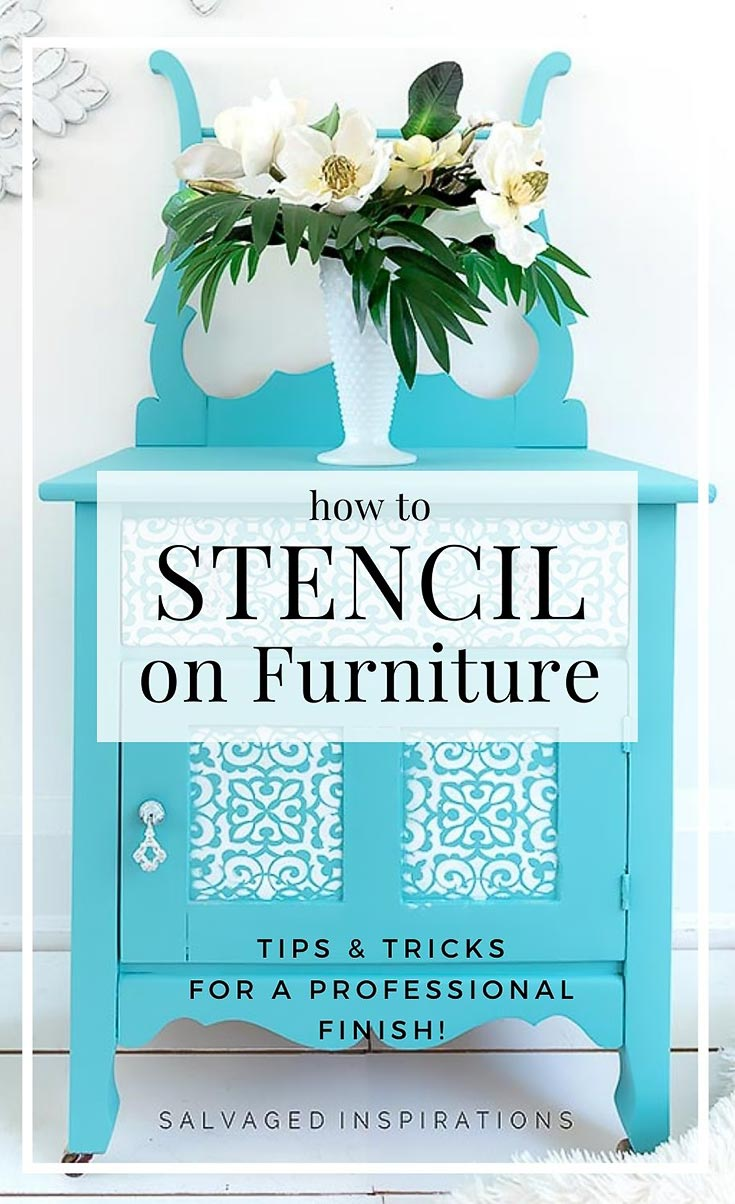 How To Stencil On Furniture - Tips & Tricks