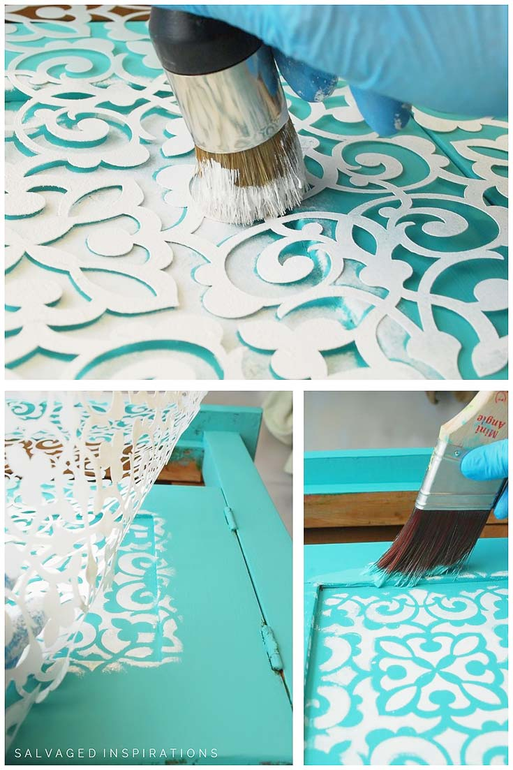 How To Stencil Inset Furniture Panels