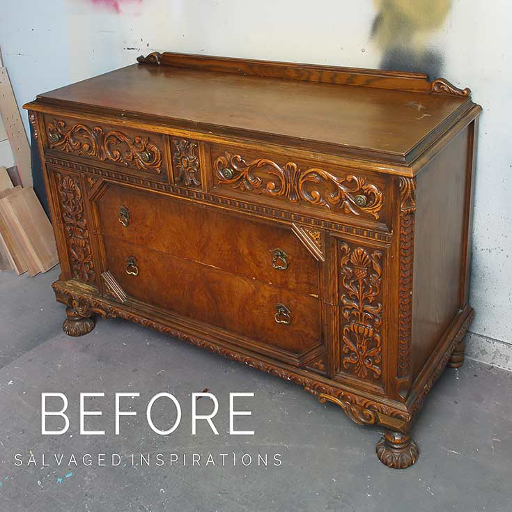 Ornate Dresser Before