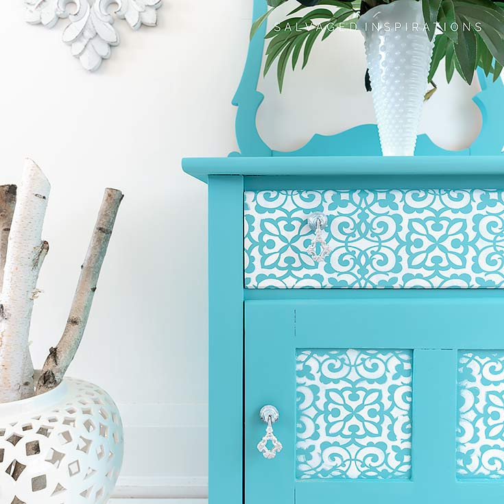 Painted and Stencilled Washstand IG