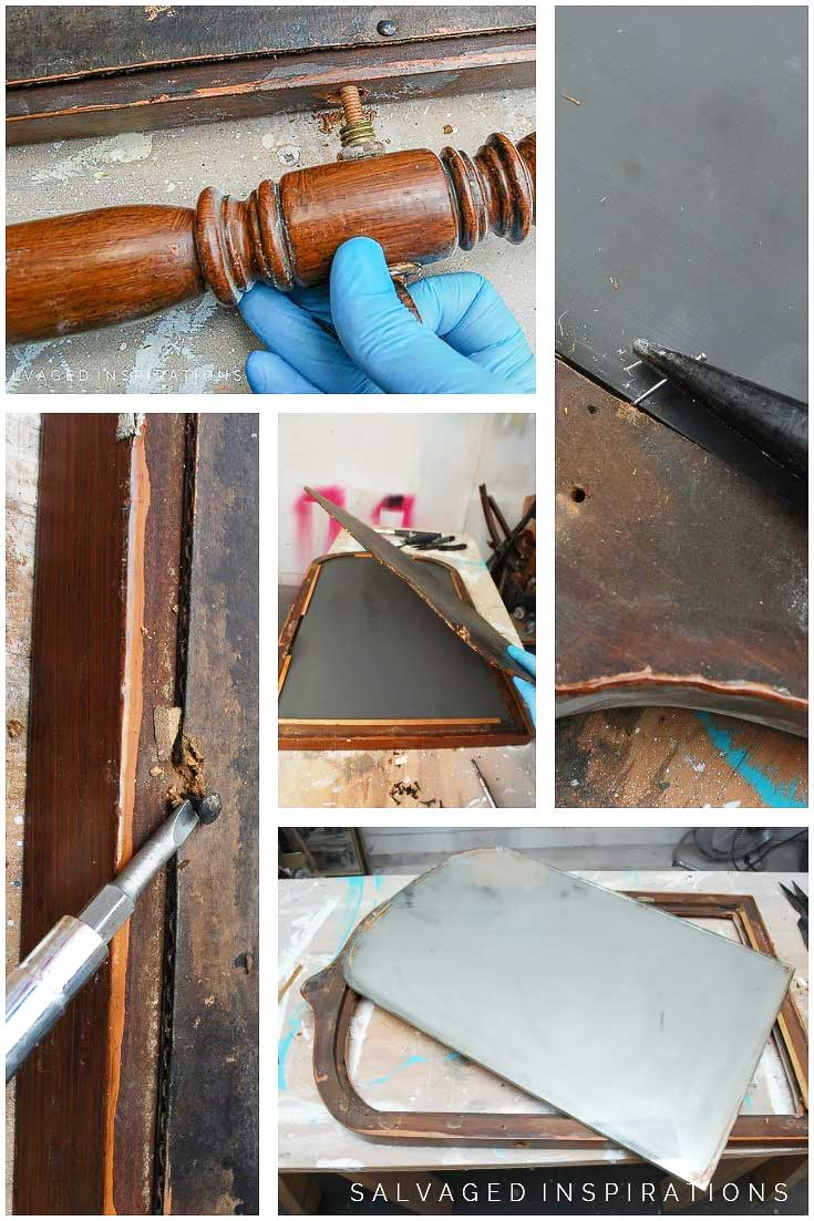 Removing Mirror From Vintage Frame