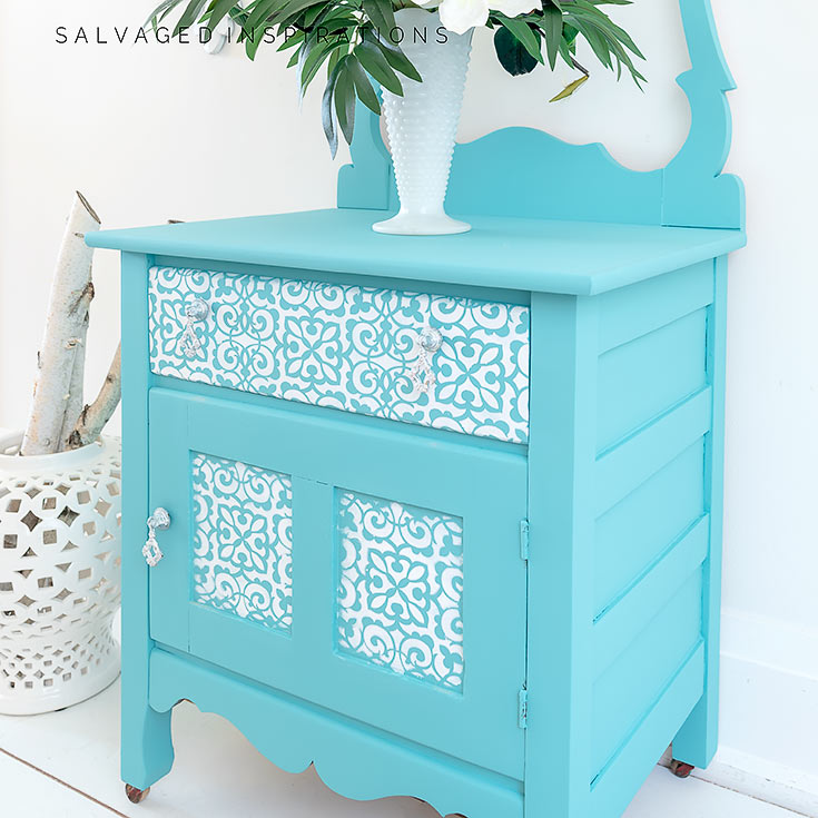 Side View Of Stencilled Furniture IG