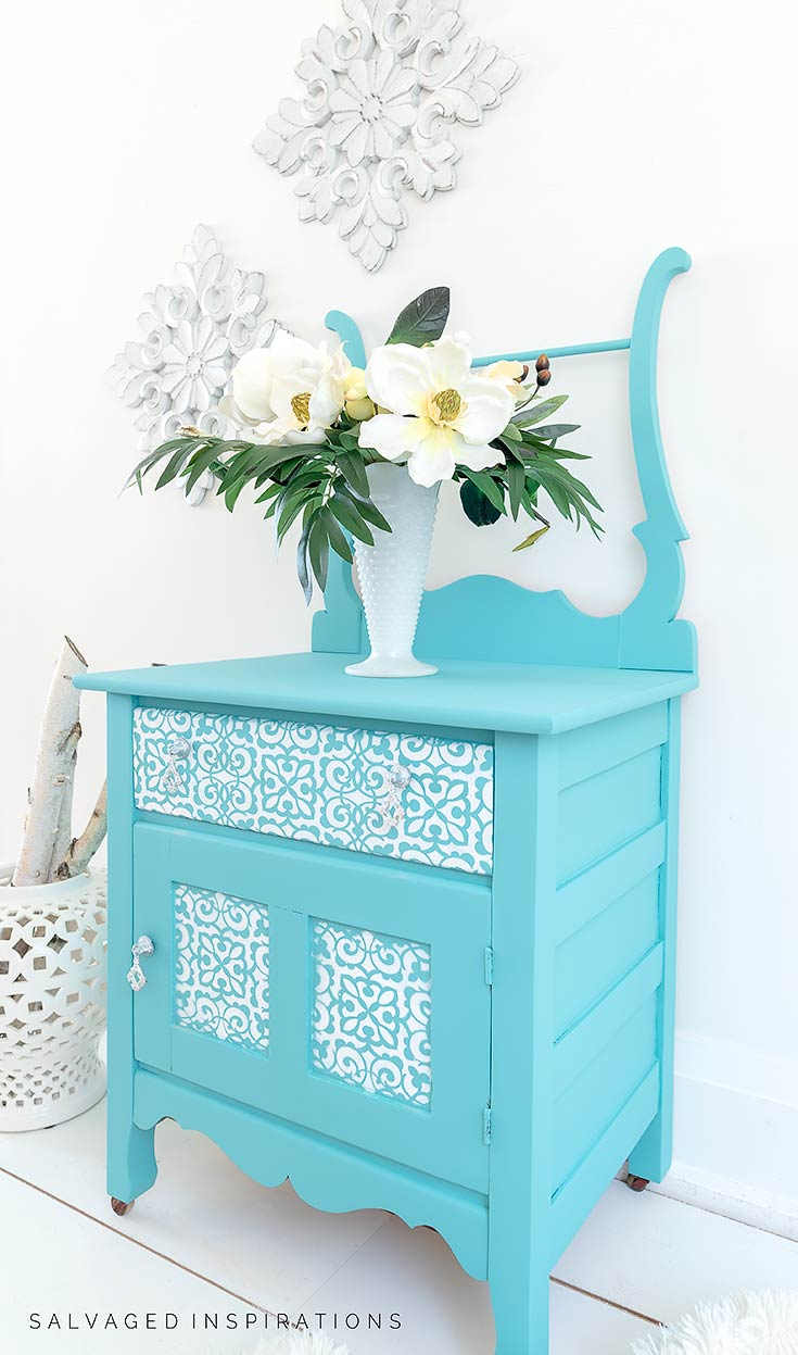 Side View Of Stencilled Furniture