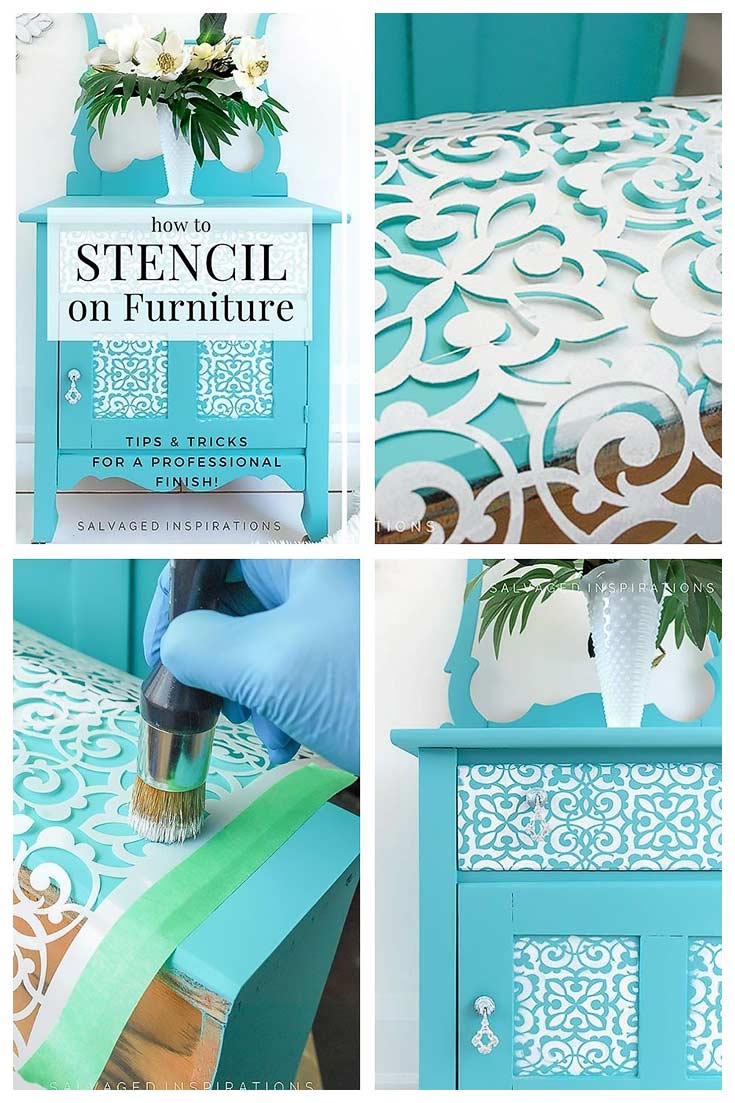 Stencilling On Furniture Tutorial