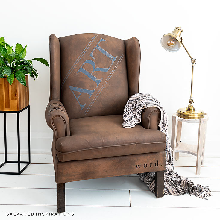 Painted Chair With Prima Transfers_