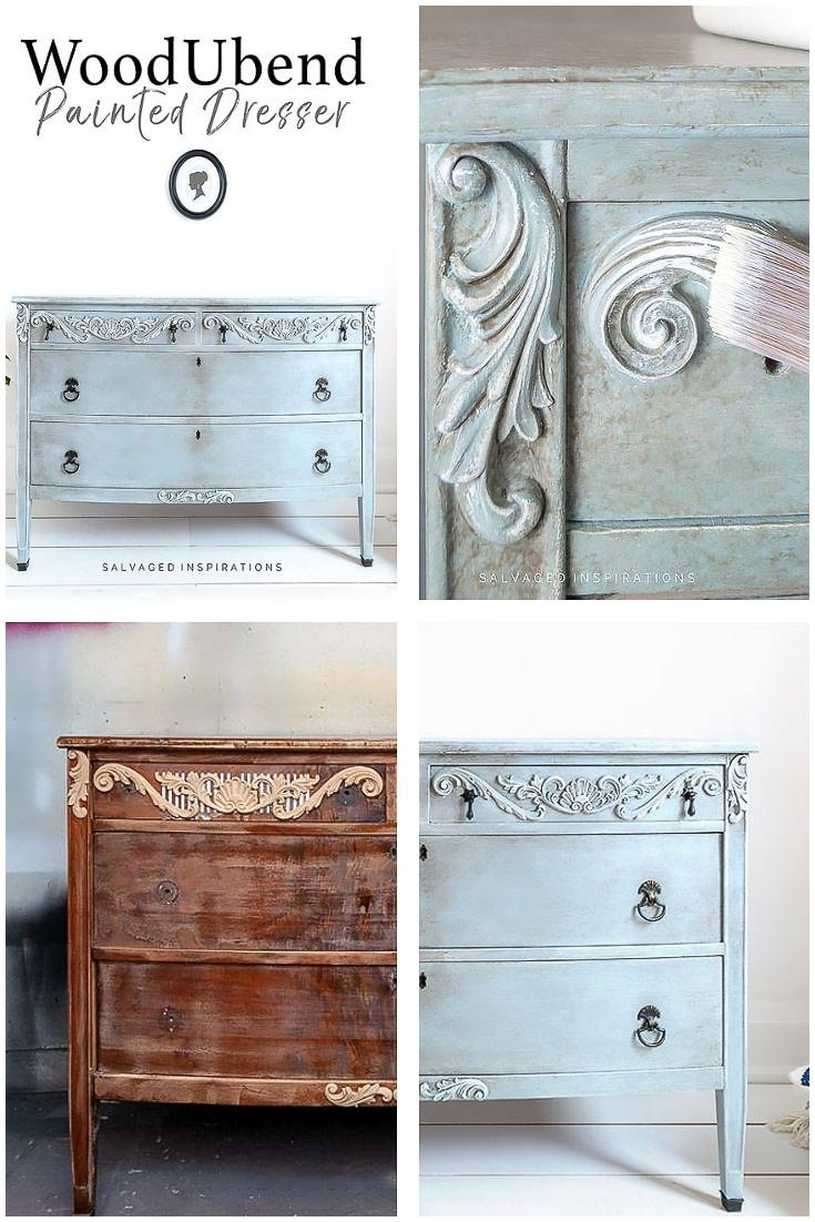Painted Dresser Makeover w WoodUbend