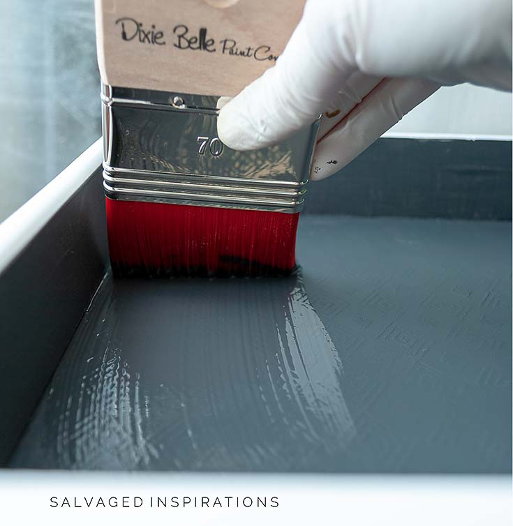 Applying Mineral Paint To Drawer