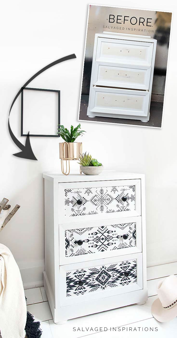 Before and After Folk 1 Side Table Makeover