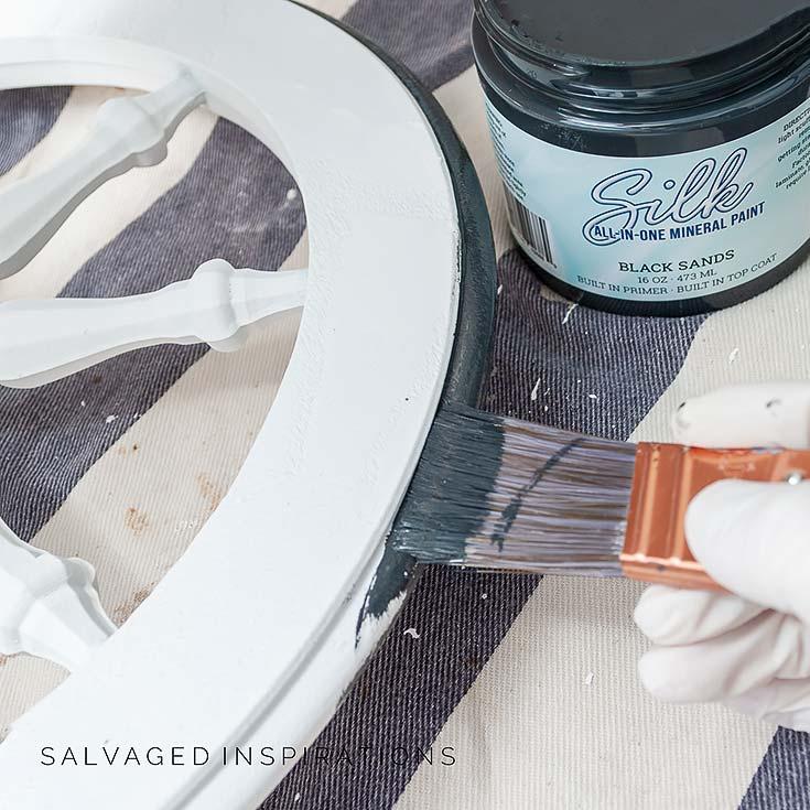 Black Sands Mineral Paint on Tea Cart