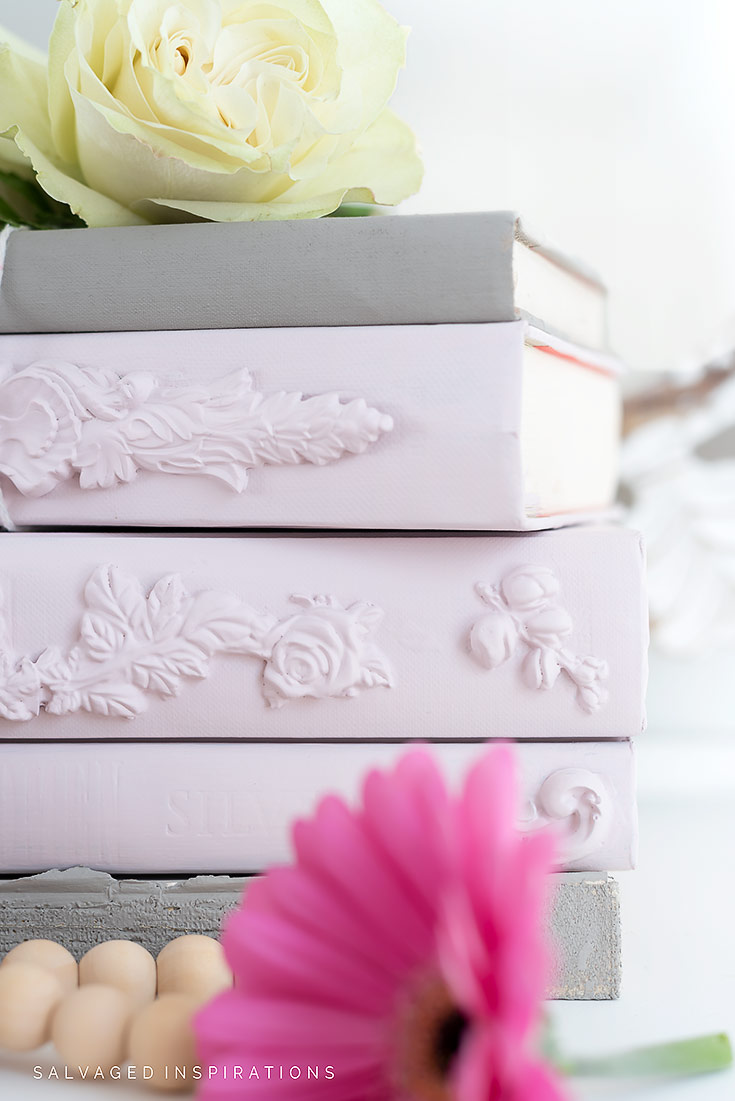 Decorative Stacking Books Close Up