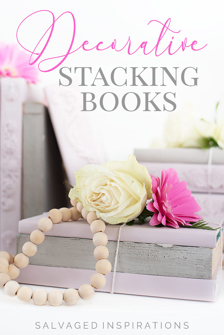 Decorative Stacking Books for Valentines Day