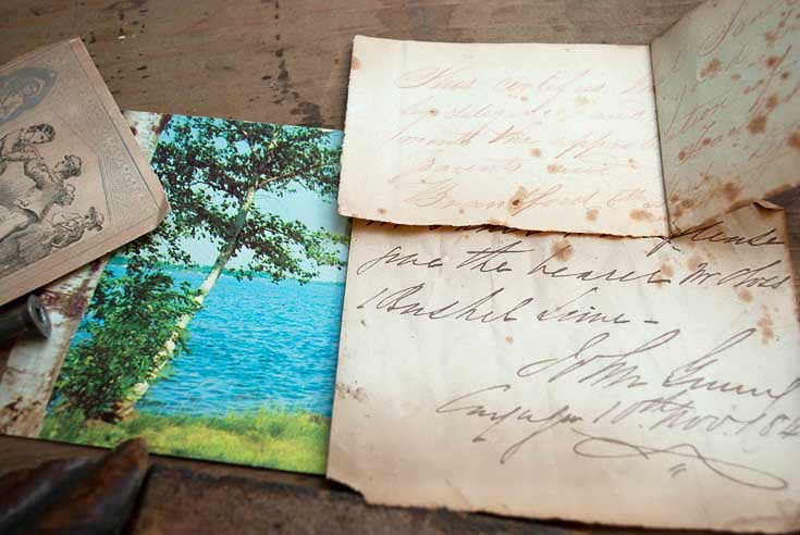 Letters In Old Dresser Drawer