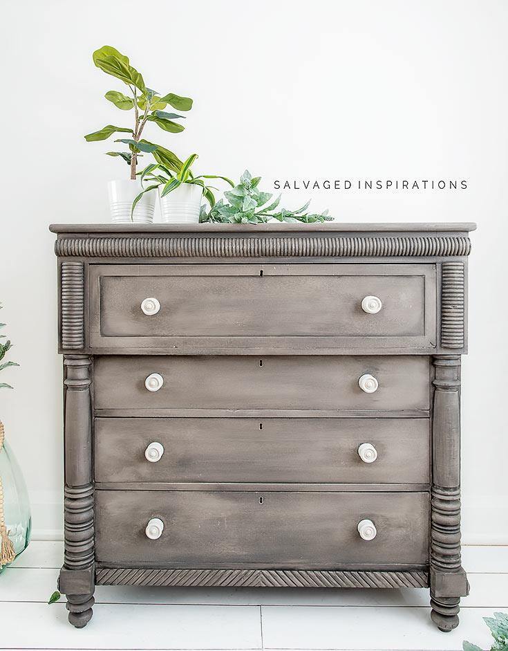 Painted Empire Dresser Makeover