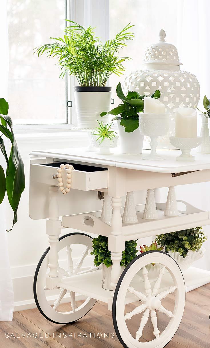 Tea Cart Paint in Dixie Belle Silk