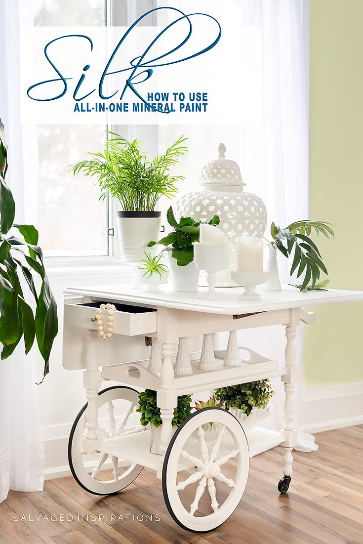 Tea Cart Paint in Silk All In One Mineral Paint