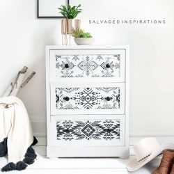 Tribal Transfer on Side Table
