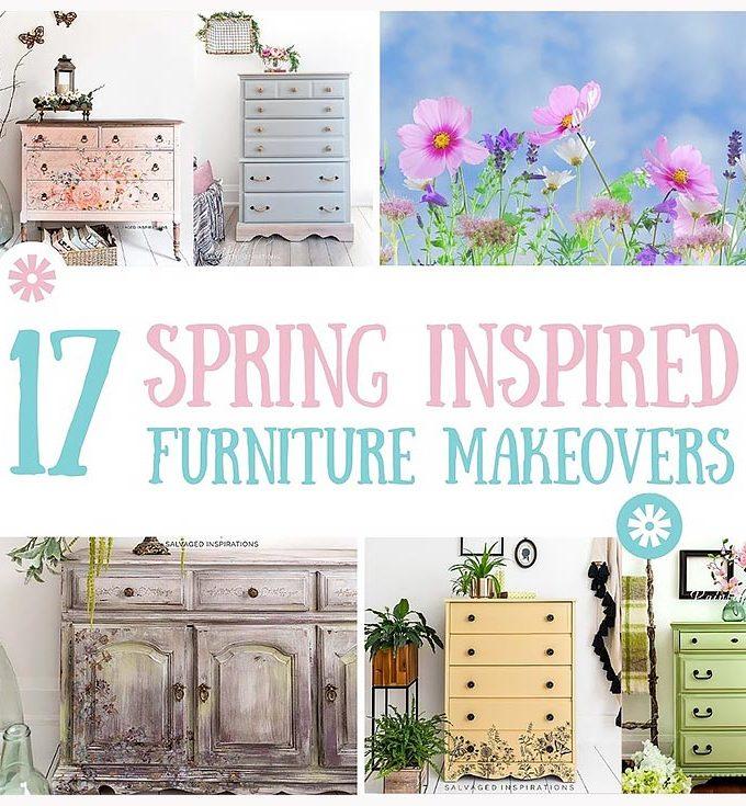 17 Spring Inspired Furniture Makeovers