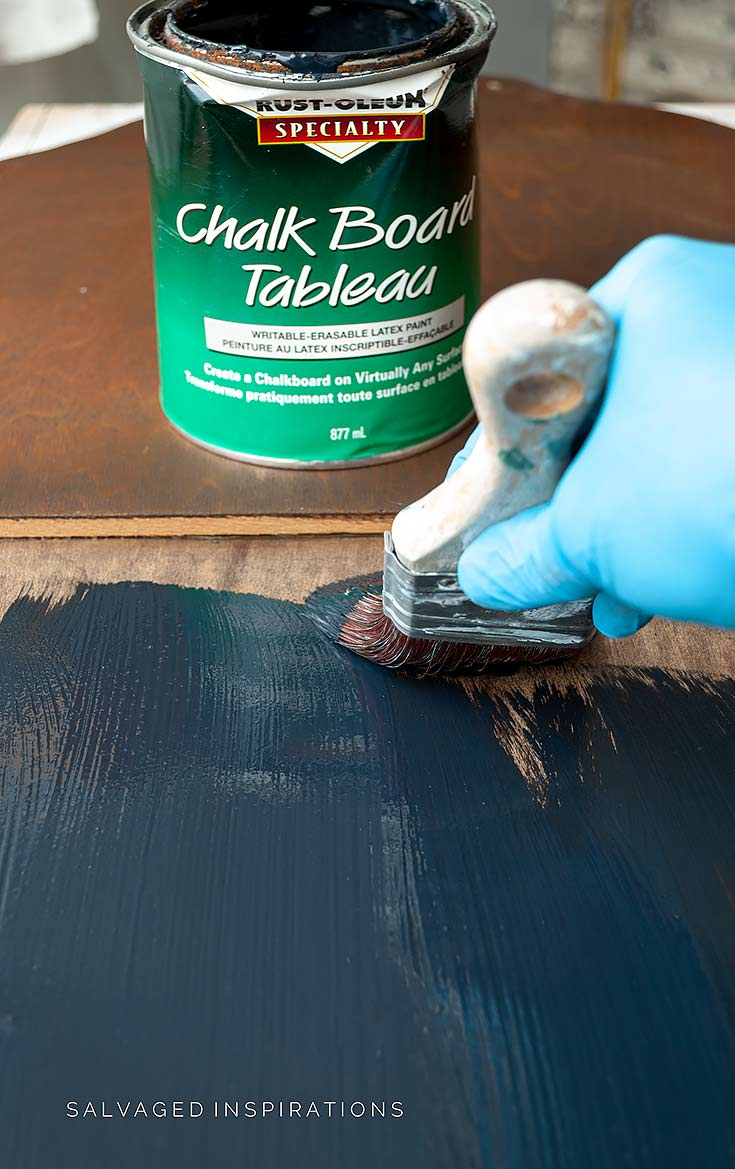 Applying Chalkboard Paint