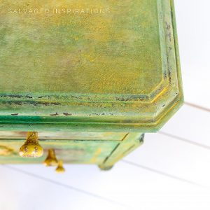 Close Up Of Sea Spray Textured Painted Dresser Top IG
