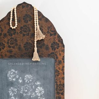Close Up of Chalkboard Mirror