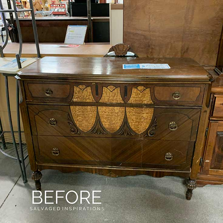 RESTORE Dresser Makeover Before