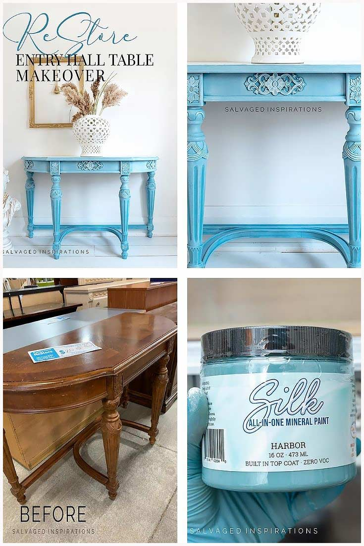 Restore Entry Hall Table Collage