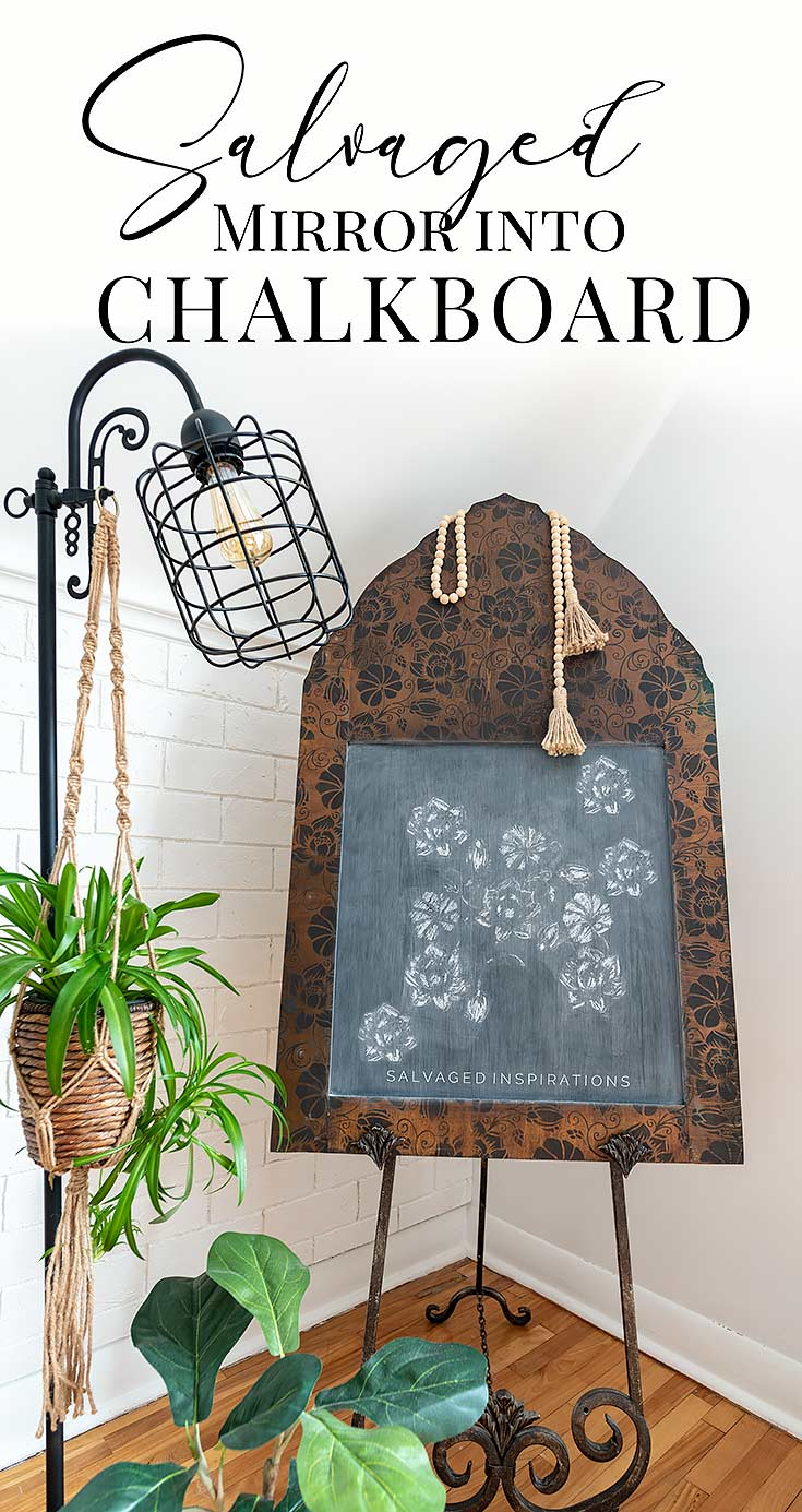 Salvaged Mirror Into Chalkboard txt