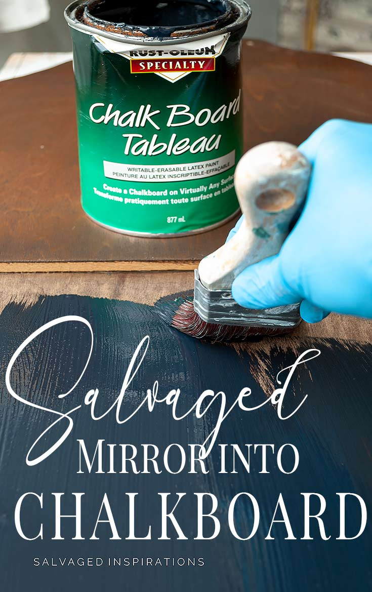 Salvaged Mirror Into DIY Chalkboard