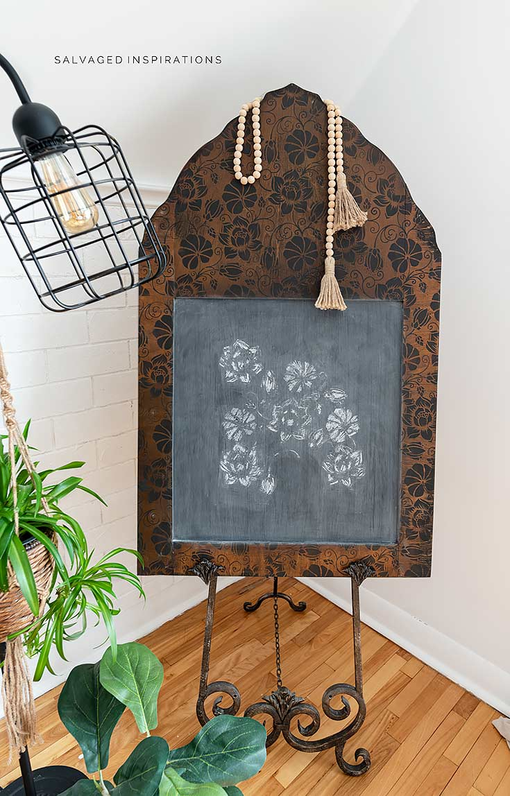 Salvaged Mirror into Chalkboard 1