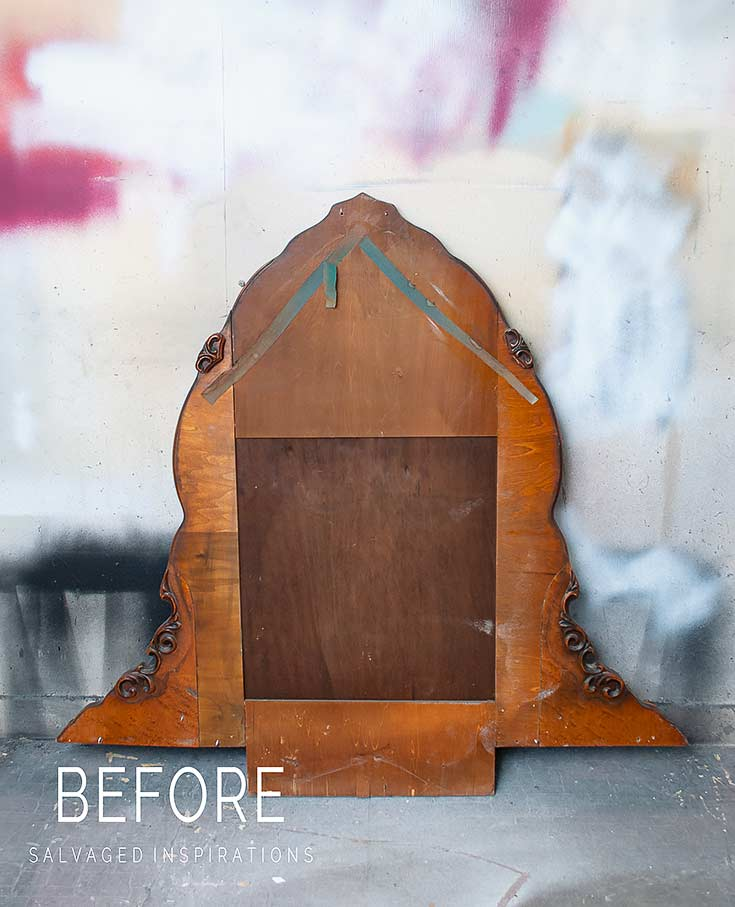 Salvaged Vintage Mirror Before