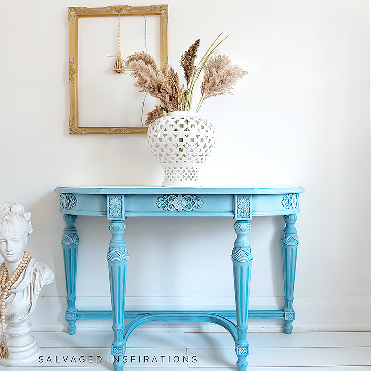 Silk Harbour Painted Hall Table IG