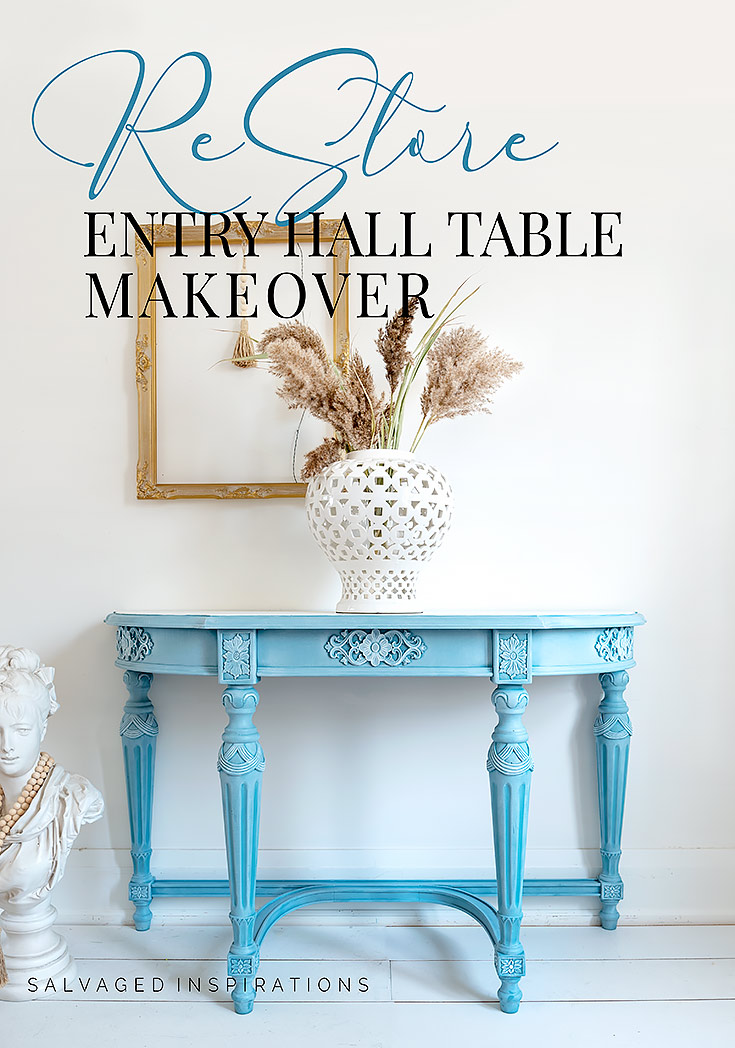Silk Harbour Painted Hall Table txt