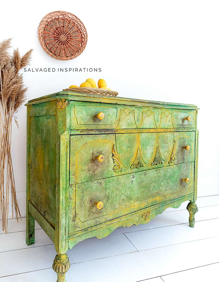 Spring Painted Textured Dresser Makeover
