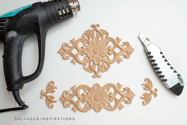 WoodUBend Appliques For Table Makeover