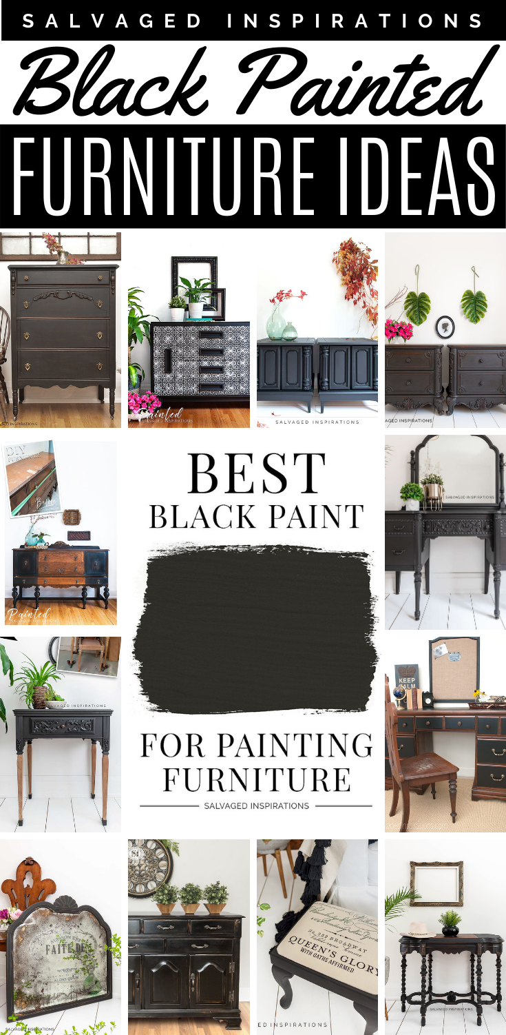 Black Painted furniture | Salvaged Inspirations