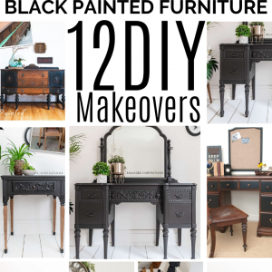 Black Painted furniture 12 DIY Makeovers