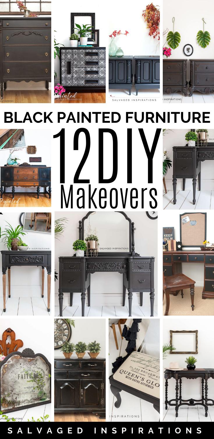 Black Painted furniture 12 DIY Makeovers